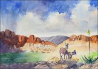 Donkeys of Red Rock Canyon Print