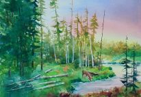 East Yellowstone Original Painting